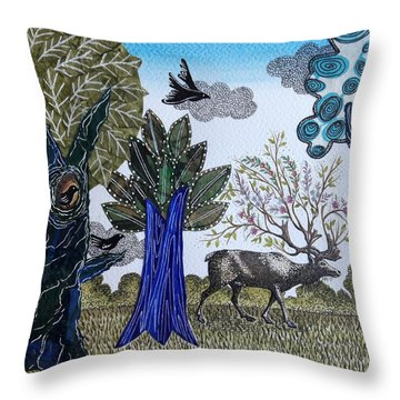 Magical Nature Throw Pillow