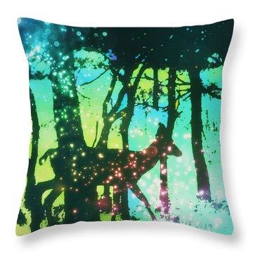 Magical Nature Throw Pillow