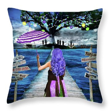 Magical New Orleans Throw Pillow by Tammy Wetzel