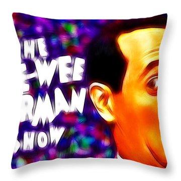Magical Pee Wee Herman Throw Pillow by Paul Van Scott