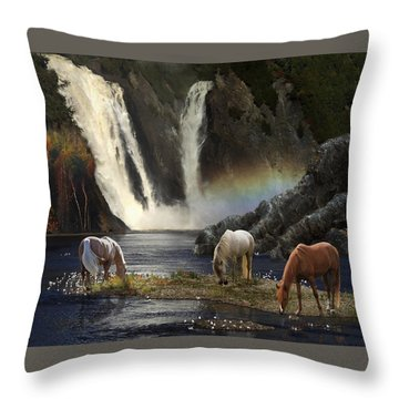 Throw Pillow featuring the photograph Magical Retreat by Melinda Hughes-Berland