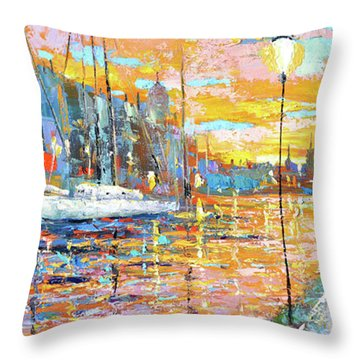 Magical Sunset Throw Pillow