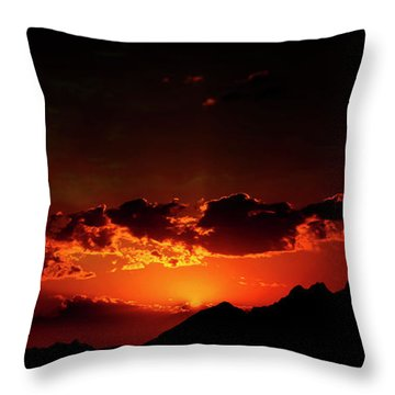 Magical Sunset In Africa 2 Throw Pillow
