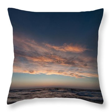 Throw Pillow featuring the photograph Magical Sunset by Laura Melis