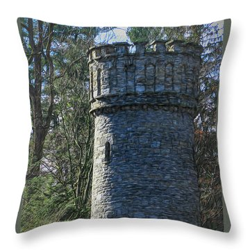 Magical Tower Throw Pillow by Patrice Zinck