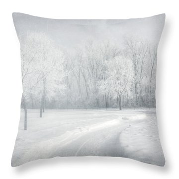 magical Winter day Throw Pillow
