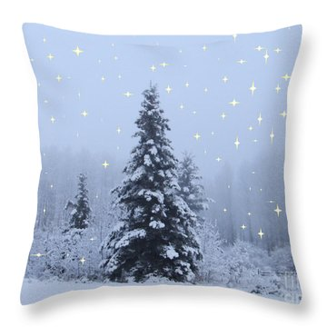 Magical Winterscape Throw Pillow