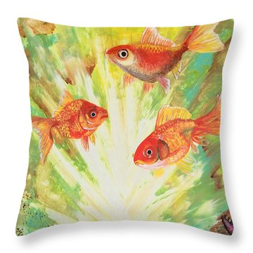 Magical World Throw Pillow by Jacqueline Martin