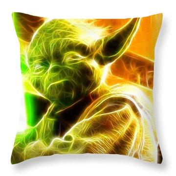 Magical Yoda Throw Pillow by Paul Van Scott