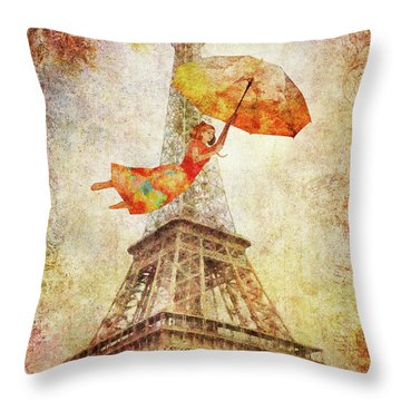 Magically Paris Throw Pillow