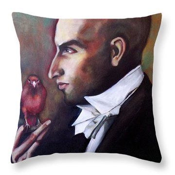 Magician And Bird Throw Pillow