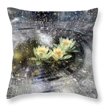Magick Ripples Throw Pillow