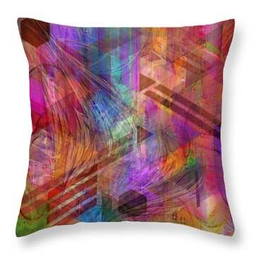Magnetic Abstraction Throw Pillow by John Beck