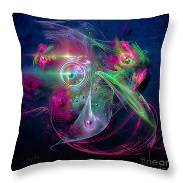 Magnetic Fields Throw Pillow