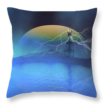 Magnetic Flux Throw Pillow by Corey Ford