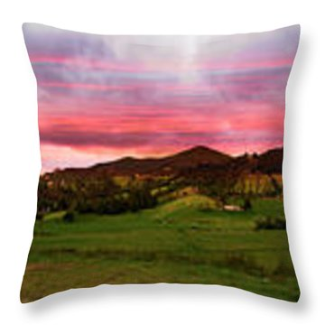 Magnificent Andes Valley Panorama Throw Pillow by Al Bourassa