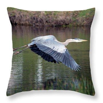 Magnificent Blue Throw Pillow
