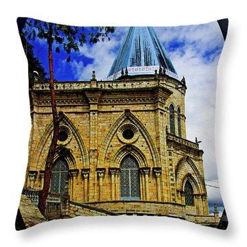 Throw Pillow featuring the photograph Magnificent Church Of Biblian by Al Bourassa