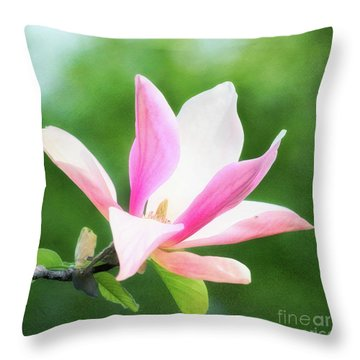 Magnificent Daybreak Magnolia At Day's End Throw Pillow