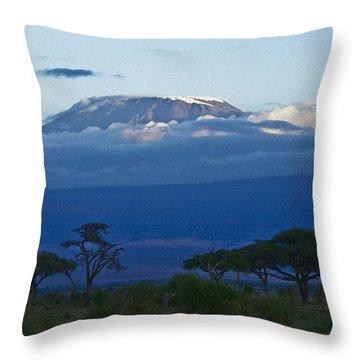Magnificent Kilimanjaro Throw Pillow