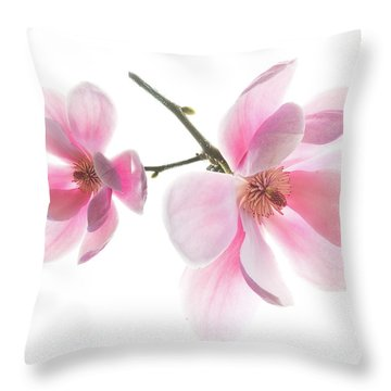 Magnolia Is The Harbinger Of Spring. Throw Pillow