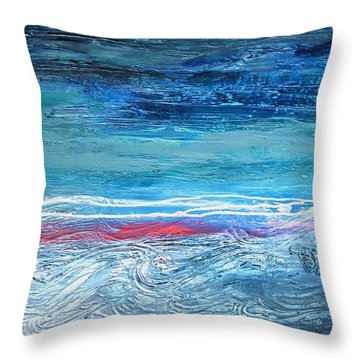 Magnificent Morning Abstract Seascape Throw Pillow