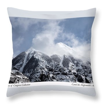 Magnificent Mountains In Telluride In Colorado Throw Pillow by Carol M Highsmith
