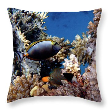 Magnificent Red Sea World Throw Pillow