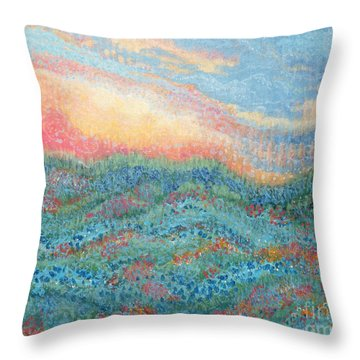 Magnificent Sunset Throw Pillow by Holly Carmichael
