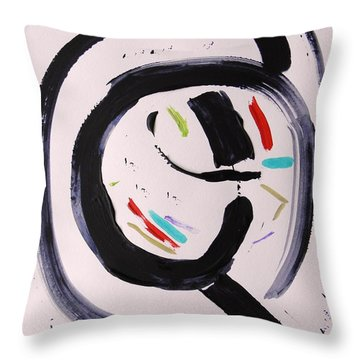 Throw Pillow featuring the painting Magnifying by Mary Carol Williams