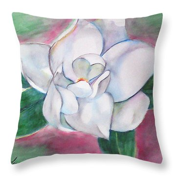 Magnolia 2 Throw Pillow by Loretta Nash