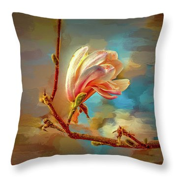 Magnolia Abs #h4 Throw Pillow
