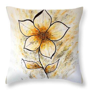 Magnolia Art-flower Throw Pillow