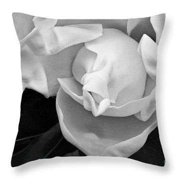 Magnolia Bloom Throw Pillow