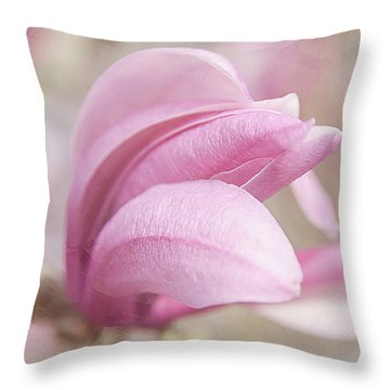 Throw Pillow featuring the photograph Magnolia Bloom Springtime by Julie Palencia