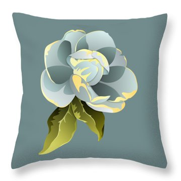 Magnolia Blossom Graphic Throw Pillow