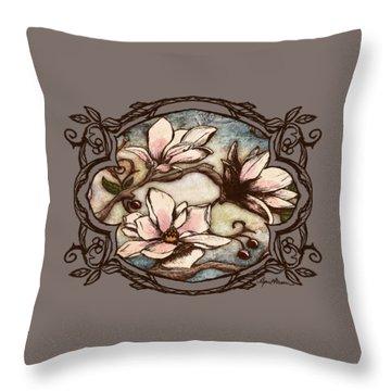 Magnolia Branch II Throw Pillow