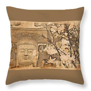 Magnolia Buddha Throw Pillow