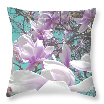 Throw Pillow featuring the photograph Magnolia Charm by Rebecca Harman