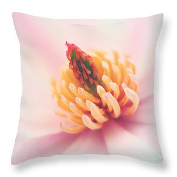 Magnolia Crown Throw Pillow