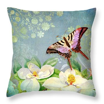 Magnolia Dreams  Throw Pillow by Audrey Jeanne Roberts