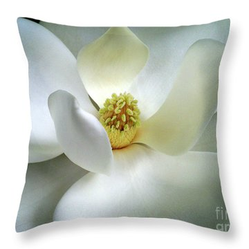 Magnolia Elegance Throw Pillow