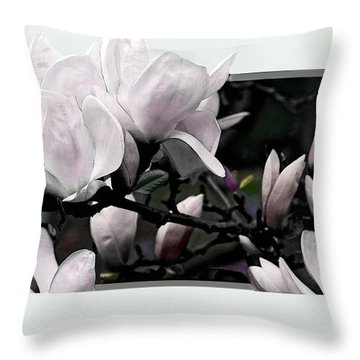 Magnolia Fantasy I Throw Pillow by Madeline Ellis