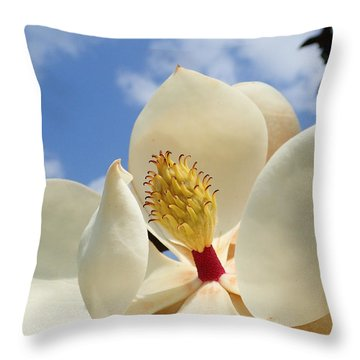 Magnolia Blossom Throw Pillow by Farol Tomson