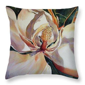 Magnolia, Golden Glow Throw Pillow