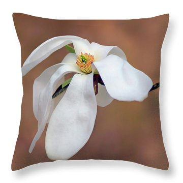 Throw Pillow featuring the photograph Magnolia Grace by Nikolyn McDonald