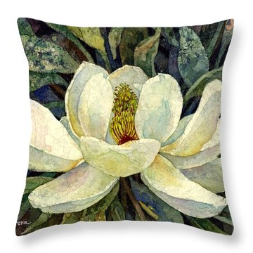 Magnolia Grandiflora Throw Pillow