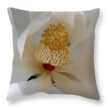 Magnolia Happiness Throw Pillow
