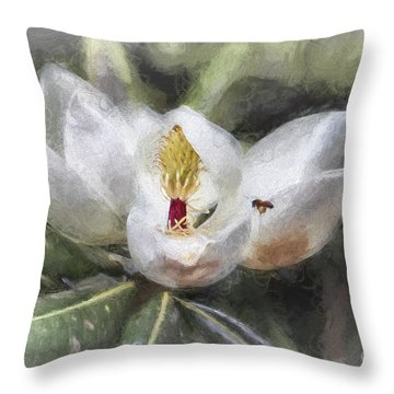 Magnolia Harvest Throw Pillow