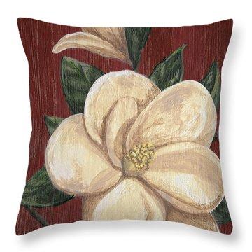 Magnolia II Throw Pillow